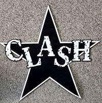 Clash- Star Logo die cut embroidered back patch