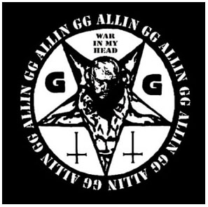 GG Allin- War In My Head cloth patch (cp190)