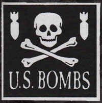 US Bombs- Skull And Bombs cloth patch (cp270) (Sale price!)