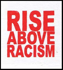 Rise Above Racism cloth patch (cp910)