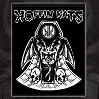 Koffin Kats- Bat Kat cloth patch (cp924) (Sale price!)