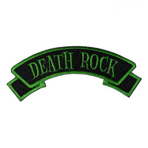 Death Rock Embroidered Patch by Kreepsville 666 (ep359)
