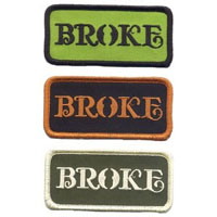 Broke Embroidered Patch by Felon- Green/Black  (EP686)