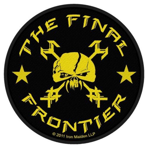 Iron Maiden- Final Frontier Skull (Round) Woven Patch (ep206)