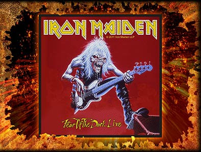 Iron Maiden- Fear Of The Dark Live Woven Patch (EP516)