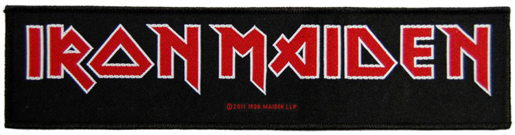 Iron Maiden- Logo Woven Superstrip Patch (ep201)