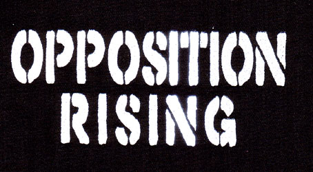 Opposition Rising- Stacked Logo cloth patch (cp278)
