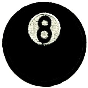 8 Ball embroidered patch (ep157)