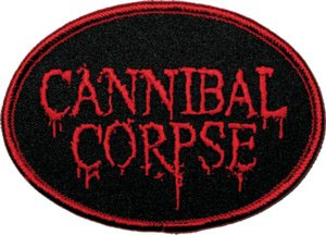 Cannibal Corpse- Oval Logo embroidered patch (ep287)