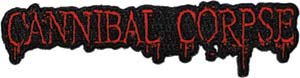 Cannibal Corpse- Die Cut Logo embroidered patch (ep284)