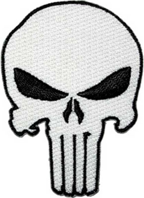 Marvel Comics- Punisher Skull embroidered patch (ep290)