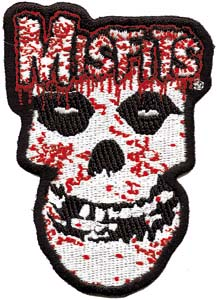 Misfits- Bloody Skull (Die Cut) embroidered patch (ep159)