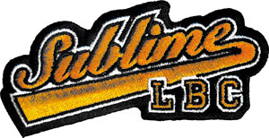 Sublime- LBC (Die Cut) embroidered patch (ep291)