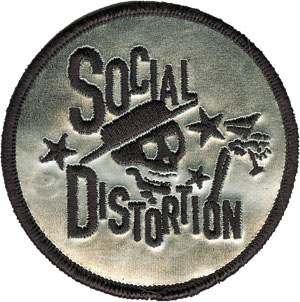Social Distortion- Skelly Chrome embroidered patch (ep300)