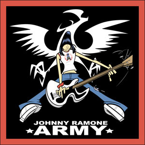 Johnny Ramone- Cartoon With Guitar embroidered patch (EP534)