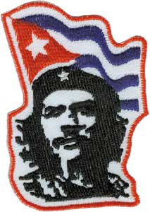 Che Guevara- Che With Flag embroidered patch (ep308)
