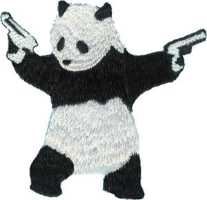 Banksy- Panda With Guns embroidered patch (ep316)