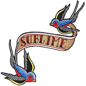 Sublime- Sparrows embroidered patch (ep323)