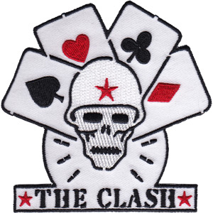 Clash- Skull & Cards embroidered patch (ep38)