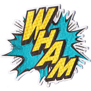 DC Comics- Batman Wham! embroidered patch (ep166)