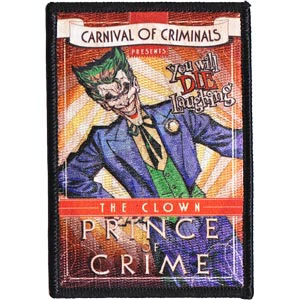DC Comics- Carnival Of Criminals (Joker) embroidered patch (ep170)
