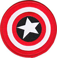 Marvel Comics- Captain America Shield embroidered patch (ep439)