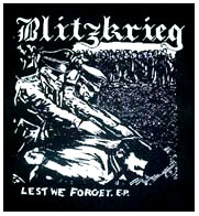 Blitzkrieg- Lest We Forget back patch (bp40)