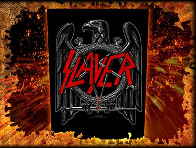 Slayer- Black Eagle Sewn Edge Back Patch (bp154)