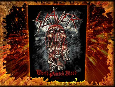 Slayer- World Painted Blood Sewn Edge Back Patch (bp152)