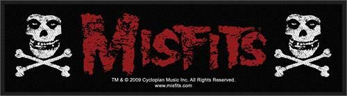 Misfits- Logo & Skulls Woven Superstrip Patch (ep562)