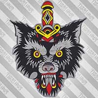 Big Bad Wolf Large Embroidered Back Patch by Thrillhaus