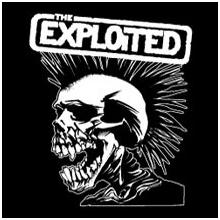 Exploited- White Skull back patch (bp184)