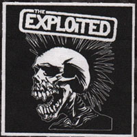 Exploited- Screaming Skull cloth patch (cp121) (Sale price!)