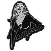 Vampira Portrait Logo Enamel Pin from Kreepsville 666 (MP217)