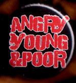 Angry Young And Poor- Logo pin (pinA435)