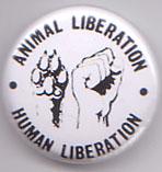 Animal Liberation Human Liberation pin (pinA840)