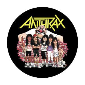 Anthrax- Cartoon Band pin (pinX135)