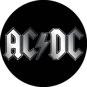 AC/DC- Chrome Logo pin (pinX120)