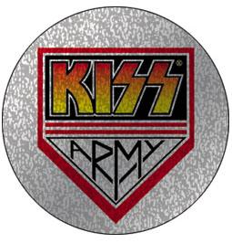 Kiss- Army Silver Glitter pin (pinX230)