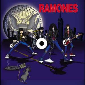 Ramones- Cartoon Band square pin (pinX246)
