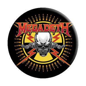 Megadeth- Skull & Bullets pin (pinX254)