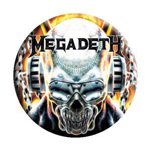 Megadeth- Metal Skull pin (pinX248)