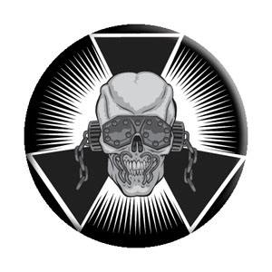 Megadeth- Skull Burst pin (pinX255)