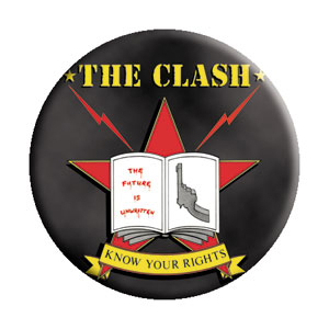 Clash- Know Your Rights pin (pinX160)