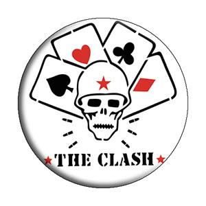 Clash- Skull & Cards pin (pinX162)
