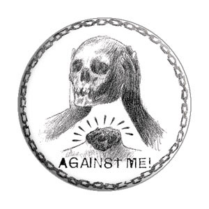 Against Me!- Skull pin (pinX133)