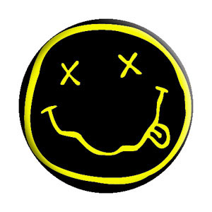 Nirvana- Smiley Face pin (pinX283)