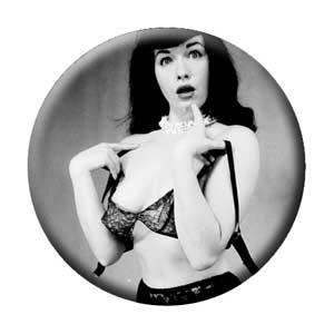 Bettie Page- Surprised pin (pinX142)
