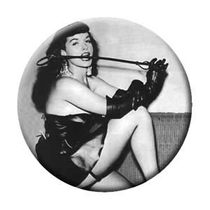 Bettie Page- Riding Crop pin (pinX141)