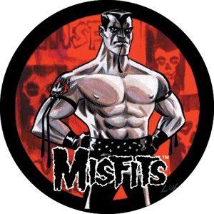 Misfits- Shirtless Cartoon pin (pinX272)